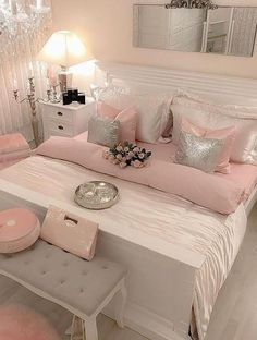 Awesome 36 Unusual Girly Bedroom Decoration Ideas For Your Inspiration. # Bedroom ideas 36 Unusual Girly Bedroom Decoration Ideas For Your Inspiration Pink Bedroom Decor, Pink Bedrooms, Living Room Decor, Bedroom Black, Pink Master Bedroom, Bedroom Neutral, Teen Bedrooms, Bedroom Small, Living Rooms