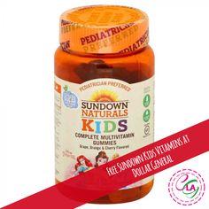 Free Sundown Kids Vitamins at Dollar General. Vitamins For Kids, Dollar General, Nutella, Jar, Desserts, Free, Deserts, Jars, Dessert