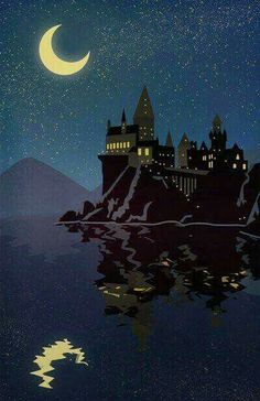 Hogwarts School Of Witchcraft & Wizardry! ♥ Hogwarts School Of Witchcraft Harry Potter Poster, Arte Do Harry Potter, Harry Potter Love, Harry Potter Universal, Harry Potter Fandom, Harry Potter World, Harry Potter Castle, Harry Potter Painting, Harry Potter Hogwarts