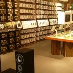 Its flagship UK store at the Westfield Shopping Centre in London showcases its latest technological innovation such as the Waterproof iPhone Cover and headphones. With such technical products on display it was essential that the space was designed in such a way to convey the brand principles.
