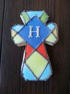 gallery of decorated cross cookies | Cross christening cookie | Cookie Connection