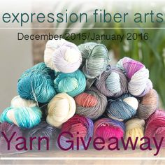 Expression Fiber Arts luxury yarn giveaway! Enter now. Ends Jan 15th, 2016. Good luck! XOXO Chandi