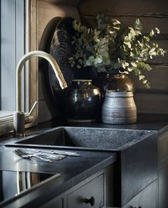 Cabin Life, Nordic, Cottage, Interior, Industrial Style, Home, Kitchen, Inspiration, Sink