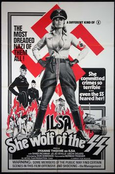 Movie Posters:Exploitation, Ilsa, She Wolf of the SS (Cambist Films, Folded, Very Fine.One Sheet X Exploitation. Janis Joplin, Russ Meyer, Superman, Budget Help, Non Plus Ultra, She Wolf, Film Releases, Kill Bill, Reproduction