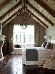 Staggering Attic master bedroom,Attic remodel on a budget and Attic renovation pictures before after. Farmhouse Style Master Bedroom, Bedroom Colors, Home, Cozy Bedroom, Bedroom Loft, Remodel Bedroom, Attic Master Bedroom, Master Bedrooms Decor
