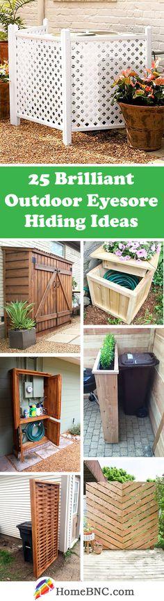 Outdoor Eyesore Hiding Design Ideas