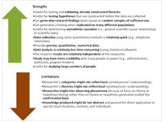 Quantitative research strengths and weaknesses