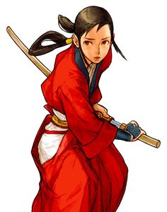 View an image titled 'Hibiki Takane Art' in our Capcom vs. SNK 2 art gallery featuring official character designs, concept art, and promo pictures. Character Design Inspiration, Capcom Vs, Female Samurai, Character Design, Character Art, Character Illustration, Art, Samurai Poses, Character Design References