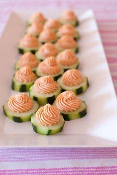 Salmon Mousse Cucumber Bites   Annies Eats by annieseats, via Flickr