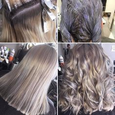 Becky's hair tends to really keep a golden warm colour, but with a full head of foils and all over she's got the she wanted. Silver Blonde Hair, Ash Blonde, Warm Colors, Colour, Long Hair Styles, Beauty, Color, Warm Paint Colors, Long Hairstyle