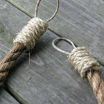 ​Rope Curtain Tie Backs, DIY from Cottage in the Oaks
