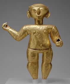 Standing Figure, 1st century B.C.–1st century A.D.  Ecuador or Colombia; Tolita/Tumaco  Gold