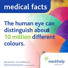 Need a medical aid? Medihelp Medical Scheme has ten plans to choose from. Human Eye, Human Body, Medical Facts, Trivia, Fun Facts, How To Plan, Amazing, Funny Facts, Eyes