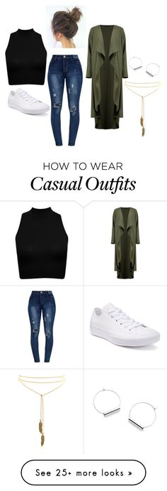 """Taurus Fall Casual"" by dianexchoi on Polyvore featuring Converse and Boohoo"