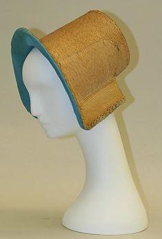 Bonnet American or European ca. 1840s