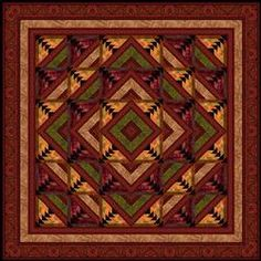 Kashmir incorporates fabrics with the lush patterns and colors from the collection with the same name. The quilt is a log cabin variation th...