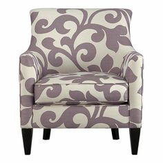 Purple and Grey Bedroom Chair