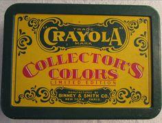 CRAYOLA Crayon Tin Container