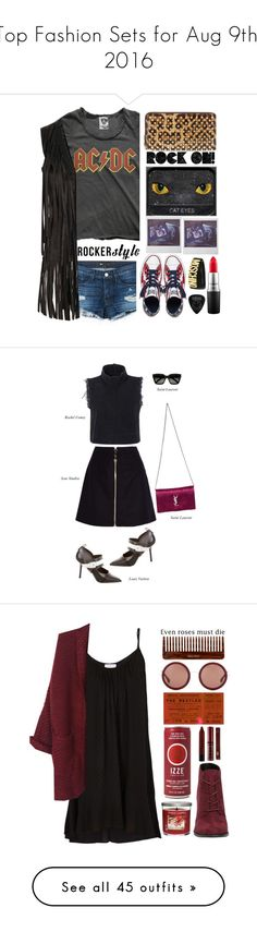 """""""Top Fashion Sets for Aug 9th, 2016"""" by polyvore ❤ liked on Polyvore featuring Christian Louboutin, MAC Cosmetics, Converse, 3x1, Glamorous, Moschino, rockerchic, rockerstyle, Acne Studios and Rachel Comey"""
