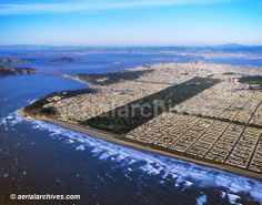 Golden Gate Park, San Francisco -Aerial view