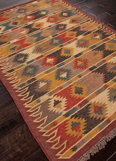 Bedoin Area Rug - Flatweave Jute Area Rug - A handsome addition to a #southwest style #home  Buy at Lights in the Northern Sky www.lightsinthenorthernsky.com