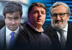 Andrea Orlando, Matteo Renzi, Michele Emiliano (ANSA)
