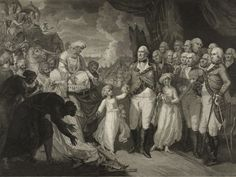 Marquis Cornwallis receiving the Hostage princes, sons of Tipu Sultan