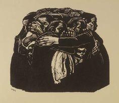 The Mothers Woodcut; Käthe Kollwitz 1922
