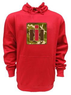IH `Camo` Logo Red Pull over Hoodie