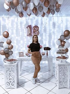 Birthday Goals, 18th Birthday Party, Mom Birthday, Sweet 16 Themes, Party Organization, Diy Birthday Decorations, Gold Bridal Showers, Its My Bday, Happy B Day