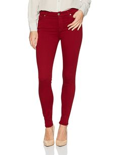 7 For All Mankind Women's Ankle Skinny Jean in Ruby Red, - Findanew Stylish Jeans, Ankle Pants, Jeans Brands, Ruby Red, Colored Jeans, Beautiful Dresses, Fashion Brands, Topshop, Skinny Jeans
