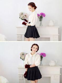 Mango Doll - Black High Waist Skirt , $33.00 (http://www.mangodoll.com/all-items/black-high-waist-skirt/)