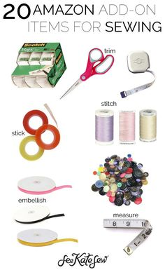 20 Amazon Add-On Items for Sewing | amazon sewing buys | where to buy sewing supplies | sewing tips and tricks | sewing must haves || see Kate sew #amazontips #sewingtips #sewingsupplies