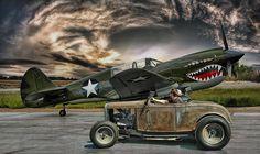 Hot Rod and aircraft