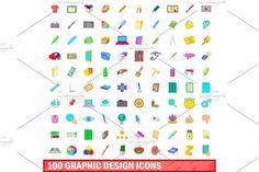Icon Design, Web Design, Graphic Design, Create Icon, Office Icon, Pencil Design, Cartoon Styles, Icon Set, The 100