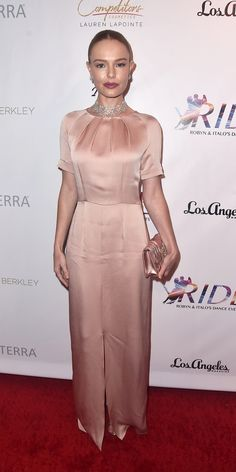 Kate Bosworth rocked a blush Beulah London gown with Beladora jewelry at the annual Cast Los Angeles gala. Pink Dress, Peplum Dress, Dress Up, Pink Fashion, Star Fashion, Kate Bosworth Style, Glamorous Dresses, Haute Couture Dresses, Nice Dresses