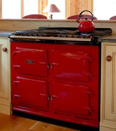 Aga Store: Six-Four Series gas ranges and electric ranges My dream stove except not red. Outdoor Kitchen Appliances, Home, Kitchen Stove, Aga Kitchen, Aga Stove, New Stove, Retro Appliances, Major Kitchen Appliances, Vintage Appliances