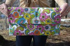 Flower Power Clutch, $25, by Unshattered on Etsy. Your purchase supports women at the Walter Hoving Home rebuilding their lives shattered by addiction. Check us out at Unshattered.org!