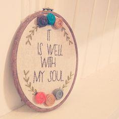 embroidery hoop art - housewarming / Mom