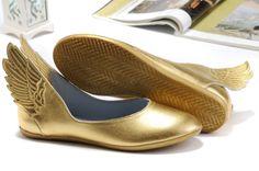 Gold Adidas (Js) Jeremy Scott Wings Ballerinas Shoes In Adidas Wings Sneakers 2012