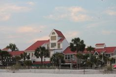Beach side view of Driftwood Inn at Mexico Beach, Florida