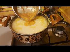 BU ÇORBAYI MUTLAKA YAPMALISINIZ ÇOK SEVECEKSİNİZ TAVUKLU TEL ŞEHRİYE ÇORBASI - YouTube Fondue, Food And Drink, Turkey, Soup, Cheese, Ethnic Recipes, Knob, Youtube, Kitchens