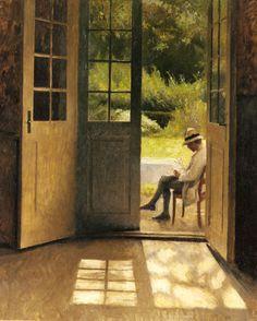 Peter Vilhelm Ilsted (Danish artist, 1861-1933) The Open Door