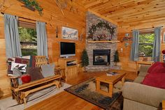 Apple Blossom is a spacious,  two bedroom, two bath log cabin located in Hidden Lake Estates which is in Wears Valley, a 10 minute drive from the main parkway in Pigeon Forge.  This private, serene setting includes a small lake for fishing and enjoying the beautiful forest scenery.  The main level of the cabin features a fully equipped kitchen and dining table for 6.  Gatlinburg/Pigeon Forge Tennessee