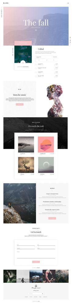 Born for music / Web design + layout + ui + ux Layout Design, Layout Web, Web Ui Design, Page Design, Email Design, Design Trends, Website Design Inspiration, Graphic Design Inspiration, Daily Inspiration