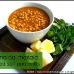 Finally, cooking Indian for TV: Chana Dal Masala