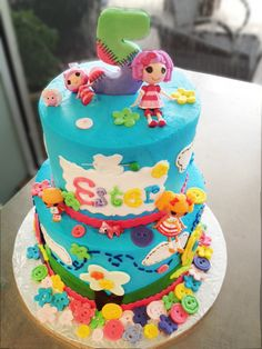 A Lalaloopsy cake we made for a recent birthday party! Cake # 028.