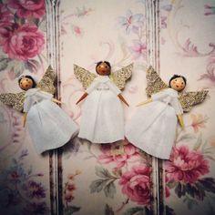 Wooden Angel, Miniature Crafts, Attic, Spin, Art Dolls, Vintage Inspired, Miniatures, Ornaments, Artwork