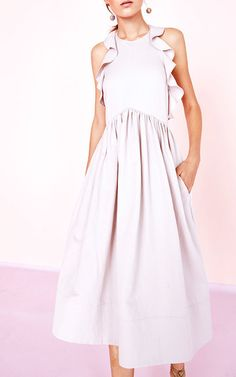 Cecily Ruffle Dress by ULLA JOHNSON for Preorder on Moda Operandi