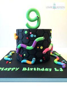 Slither.io cake - Cake by Louise Jackson Cake Design